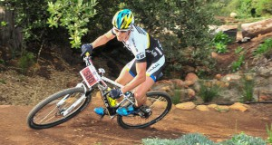 Three-time Absa Cape Epic champion Stefan Sahm – pictured here winning the Pennypinchers Origin of Trails – will head up a star-studded field for the Garden Route 300 mountain bike stage race in Knysna from February 27 to March 1.  Photo: Jetline Action Photo