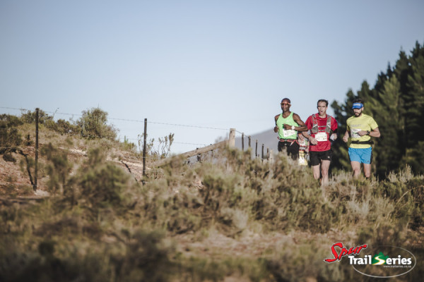 Nicholas Rupanga, Ryan Winter and Julian Atkinson at the Spur Trail Series™ Elgin Valley XL at Oak Valley. Image by Ewald Sadie