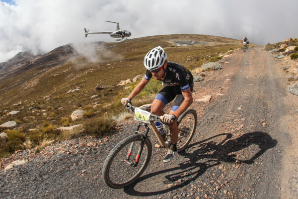 Erik Kleinhans was the first rider reaching the top of the Merino Monster  - Photo: www.oakpics.com