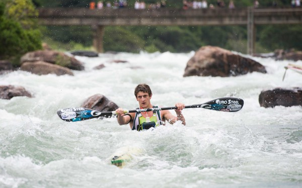 Having paddled to a runner-up place at the 2015 Dusi Canoe Marathon Lance Kime (Euro Steel) will be taking on the Non-Stop Dusi Canoe Marathon before he hangs up his paddle for a while as he travels and works overseas.  - Anthony Grote/ Gameplan Media