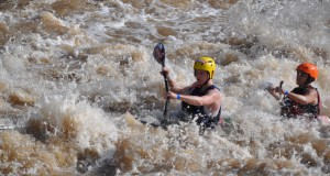 Jordan Tupper and Evan Knight took on the wild water at the 2015 STIHL Umkomaas Canoe Marathon over this past weekend in what were described as great conditions for paddling.  - Gary Knight/ Gameplan Media