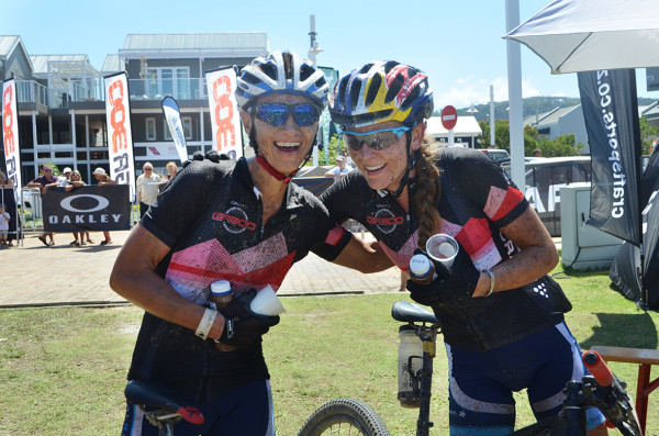 ALL SMILES AGAIN FOR SASOL TEAM WINNERS YOLANDE DE VILLIERS AND BIANCA HAW