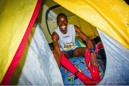 Seems eventual winner, Bernard Rukadza, was as excited as I was about sleeping in a tent