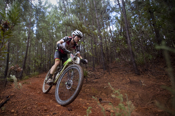 Darren Lill during stage 6 of the 2015 Absa Cape Epic Mountain Bike stage race from the Cape Peninsula University of Technology in Wellington, South Africa on the 21 March 2015 - Photo by Damien Schumann/Cape Epic/SPORTZPICS