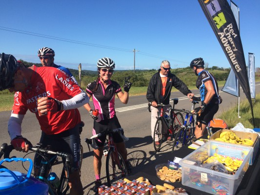 Riders enjoying a well deserved treat at the Red Cherry 200 - Photo supplied