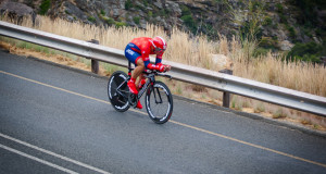 Malcolm Rudolph: Drapac's Malcolm Rudolph won the time-trial on the third day of the Bestmed Tour de Boland, presented by Pinarello, on Wednesday. Photo: Warren Elsom/Capcha