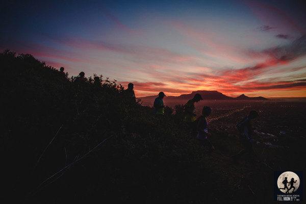 The view runners can expect during the Tygerberg Full Moon Fun Run and Hike. Image taken by Ewald Sadie at the Spur Cape Summer Trail Series™