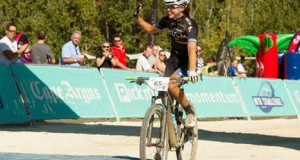Ariane Kleinhans (Team RECM) makes it two wins in a row at the 2015 Cape Town Cycle Tour MTB Challenge