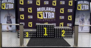 The podium all athletes strives to get their photos taken on, Midlands Ultra Triathlon.