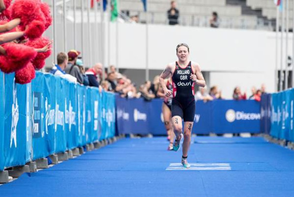 Caption: Vicky Holland wins her first WTS race
