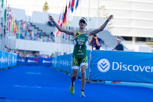 Caption: Murray finished in fourth place at this year's Discovery World Triathlon Cape Town.
