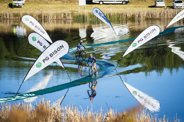 The famous PG Bison floating bridges were very much in play for riders on Thursday's opening stage of the Race during the 2015 Nedbank sani2c. - Anthony Grote/ Gameplan Media
