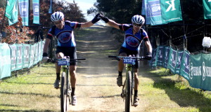 It was the familiar and determined Blend pair of Darren Lill (right) and Waylon Woolcock (left) who dominated the men's field on Thursday's opening stage of the Race during the 2015 Nedbank sani2c. - Anthony Grote/ Gameplan Media