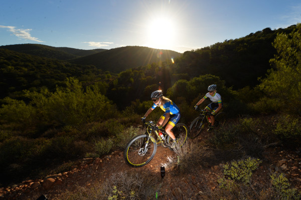 Defending champs Jennie Stenerhag (left) and Robyn de Groot (right) of Ascendis Health will form part of the hotly contested women's race of the 2015 Nedbank sani2c. - Zoon Cronje/ Gameplan Media