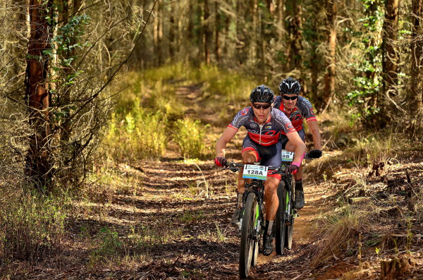EAI South Africa's Gawie Combrinck (front) and Johann Rabie (back) will look to build on their recent Old Mutual joBerg2c success when they take on the 2015 Nedbank sani2c. - Jetline Action Photo/ Gameplan Media