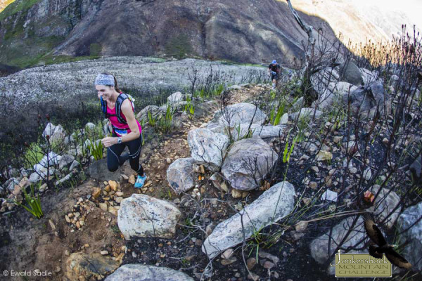 Marguerite van Niekerk at the Jonkershoek Mountain Challenge Lite 24km. Image by Ewald Sadie