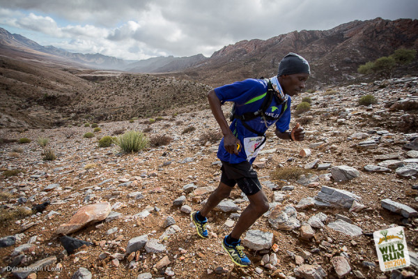 Bernard Rukadza at the Richtersveld Wildrun™ 2014. Image by Dylan Haskin.