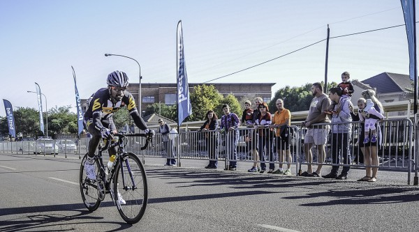 Former African road race champion Tesfom Okubamariam of the MTN-Qhubeka feeder team takes the inaugural victory at the Bestmed Capital Classic in Centurion, Pretoria, on Sunday. Photo: Brandboom Marketing