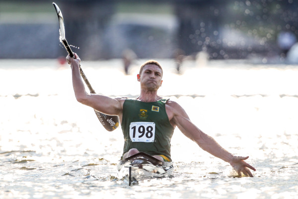 Hank McGregor claims his fourth flatwater marathon world title in Oklahoma City last year. - Balint Vekassy/ Gameplan Media