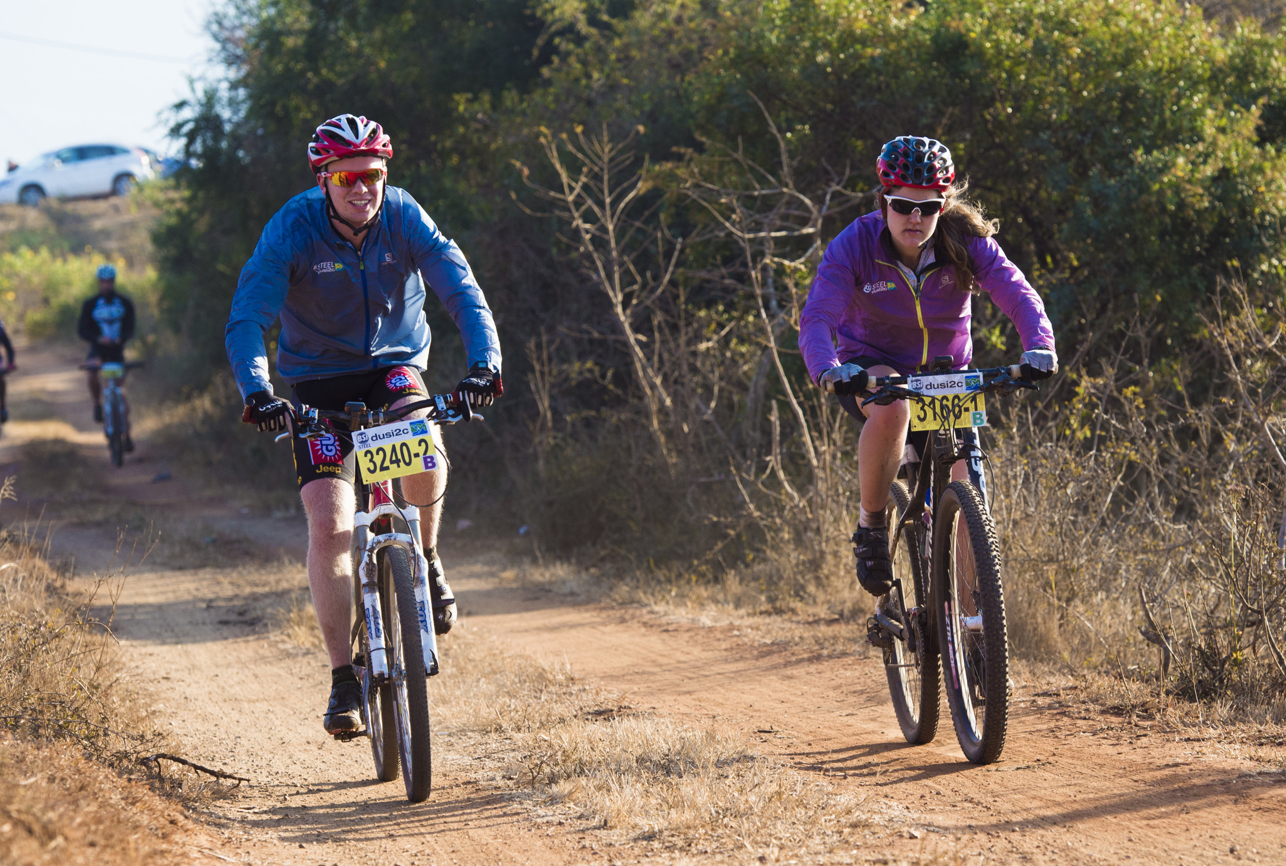 Murray Starr (left) and Tamika Haw (right) are just two of a sizeable group of paddlers looking to blur the lines between sports codes when they take on the 2015 BSi Steel dusi2c MTB stage race this weekend. Anthony Grote/Gameplan Media