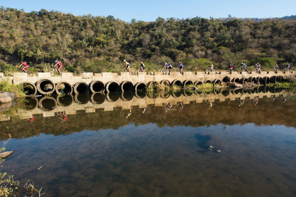 Riders had less climbing to endure but had some tricky sections of track aongside the Mngeni River during the second stage of the 2015 BSi Steel dusi2c from Mfula Store to Blue Lagoon on Sunday. Anthony Grote/ Gameplan Media