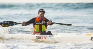 Jeep Team/Epic Kayaks' Hank McGregor stormed to a comfortable victory the Zurich Pirates Umhlanga Pirates, race three of the 2015 FNB Durban Downwind Surfski Series. Anthony Grote/Gameplan Media