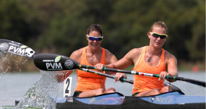 Sprint paddlers Esti van Tonder (front) and Tiffany Kruger (back) have been selected as part of the large South African contingent set to tackle this year's ICF Canoe Sprint and Paracanoe World Championships in Milan, Italy in September and ICF Junior & U23 Canoe Sprint World Championships in Montemor-o-Velho, Portugal in July. Hannes van der Westhuizen/ Gameplan Media