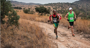 Edwin Sesipi and Michael Bailey go head to head at race 3 of the Spur Gauteng Winter Trail Series™. Image by Pat Black