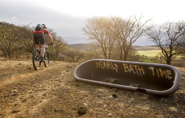 Mountain bikers can look forward to brand-new ablution facilities with a view over the Tugela River for the 10th edition of the Berg and Bush stage race in October. Photo: Kelvin Trautman