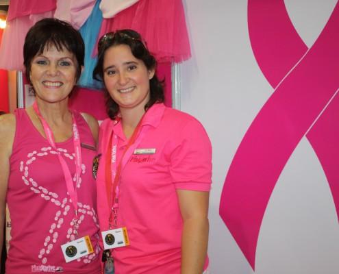 Cancer survivor Janice Benecke with Liz Book of PinkDrive.