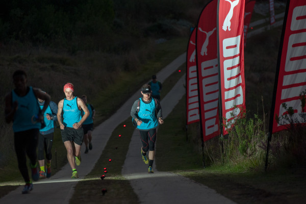 Entrants in action at the 2014 PUMA Nightcat Dash at the Pezula Field Of Dreams (Knysna).  PHOTO CREDIT:  Cherie Vale / NEWSPORT MEDIA