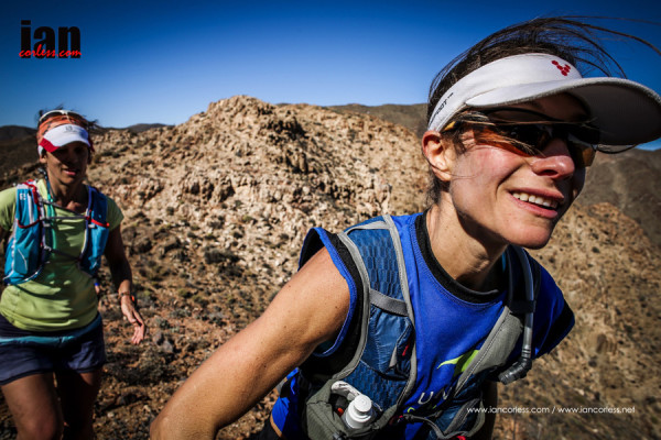 Katya Soggot on her way to victory at the Richtersveld Wildrun™. Copyright Ian Corless