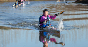Century City's Bianca Beavitt is well in control of the women's race of the 2015 Berg River Canoe Marathon after her stage one victory. - John Hishin/ Gameplan Media