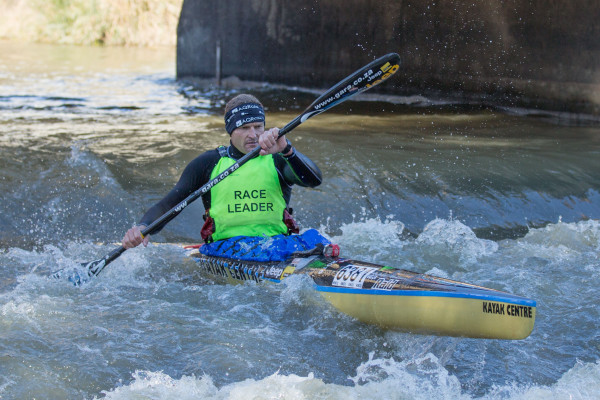 Jeep Team/Kayak Centre's Hank McGregor is well poised to launch a strong challenge for a record tenth Berg River Canoe Marathon title after his stage one victory. - John Hishin/ Gameplan Media
