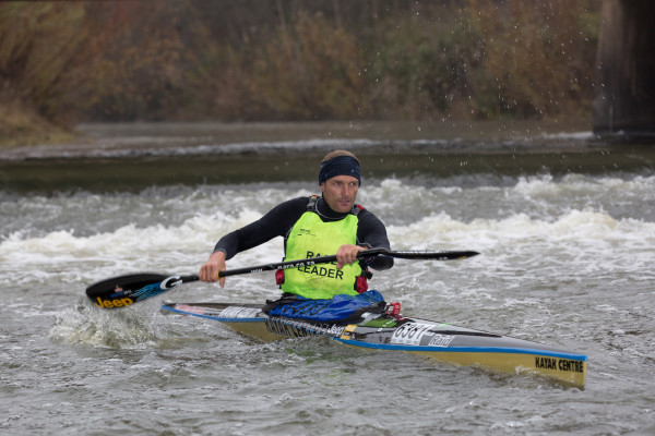 Jeep Team/Kayak Centre's Hank McGregor chagred to his second victory in as many stages of the 2015 Berg River Canoe Marathon - John Hishin/ Gameplan Media