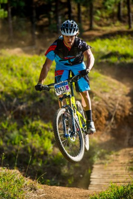 Three time defending South African downhill champion Tiaan Odendaal is in a positive and relaxed mood ahead of the upcoming 2015 Stihl South African Mountain Bike Championships presented by Subaru Cape Town/Novus Holdings on Sunday 19 July. - Anthony Grote/ Gameplan Media