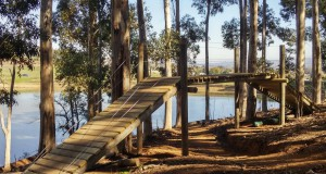 Purposefully built bridges have created an intricate cross-over section in the first half of the cross country course that awaits participants of the 2015 Stihl South African Mountain Bike Championships presented by Subaru Cape Town/Novus Holdings. - Bryan Strauss/ Gameplan Media