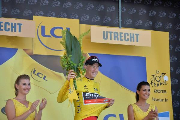 1re Etape - Utrecht / Utrecht - CLM - 13,8 Km - Pays-Bas - Rohan DENNIS (BMC), premier maillot jaune du Tour.