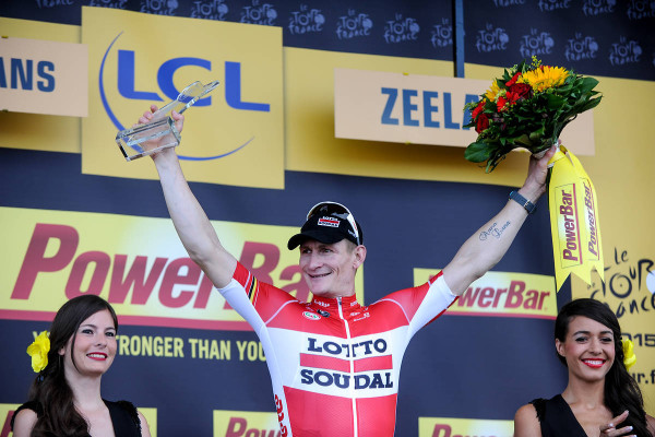 Tour de France 2015 - 05/07/2015 - 2éme Etape - Utrecht / Zeeland - 166 Km - Pays-Bas - André GREIPEL (TLS), winner of the day on the podium .