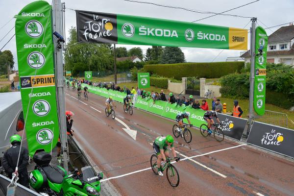 Rancourt sprint , won by André GREIPEL ( LTS ) to John Degenkolb (TGA ), Mark Cavendish ( EQS ) and Peter Sagan (TCS) - Crédit : ASO/B.Bade