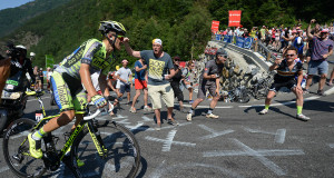 Rafal MAJKA seen alone in his third victory in the Tour de France . - ASO/X.Bourgois