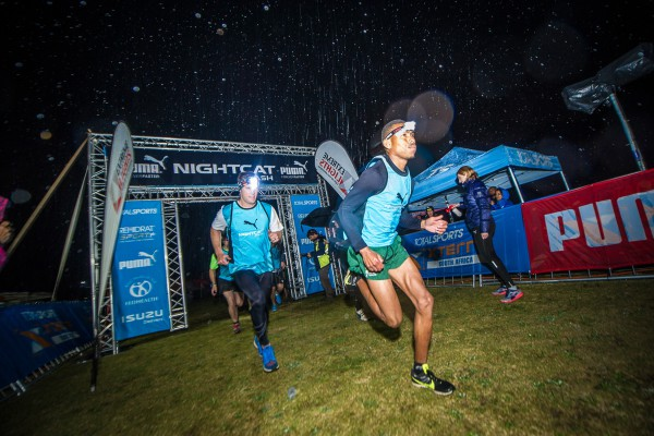 Ettiene Plaatjies successfully defended his title at the PUMA Nightcat Dash that took place at the majestic Conrad Pezula Field Of Dreams (Knysna) on Wednesday, 08 July 2015.  Photo Credit:  Volume Photography
