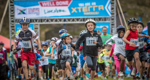 Close to 300 junior XTERRA Warriors took part in the Totalsports XTERRA Kids Race presented by REHIDRAT® SPORT at the picturesque Conrad Pezula Field of Dreams (Knysna) on Wednesday, 08 July 2015.  PHOTO CREDIT:  Volume Photography