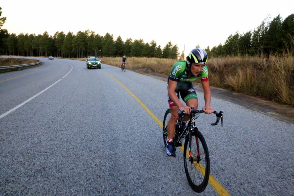 Willie Smit of Team EuropcarSA won the 27km individual time-trial on the opening stage of the inaugural Bestmed Jock Tour near Nelspruit, Mpumalanga, on Friday. Photo: Rika Joubert/Cyclenation