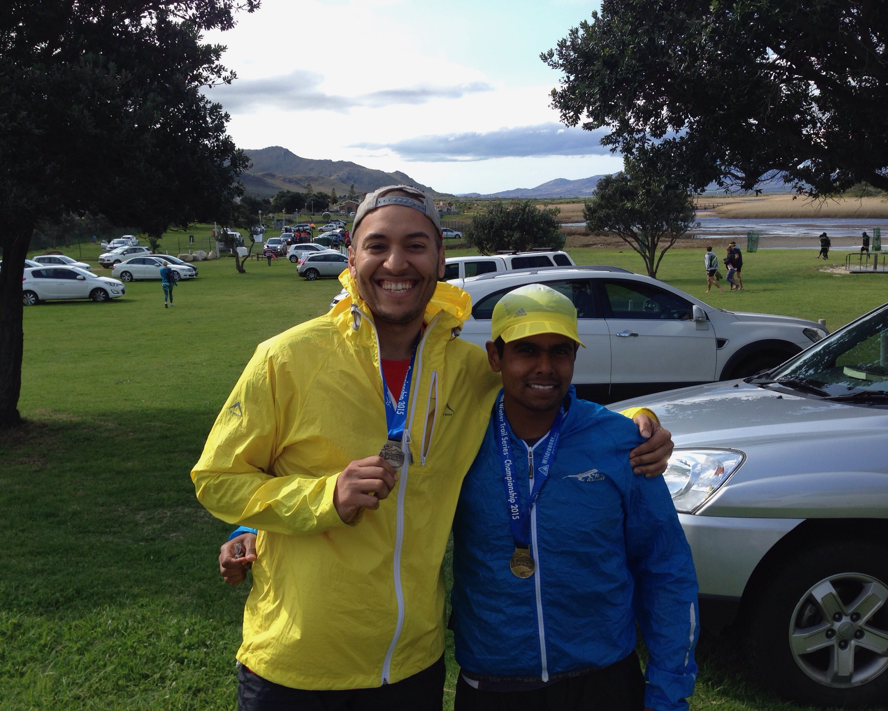 Dan (the man) and me with our series medals