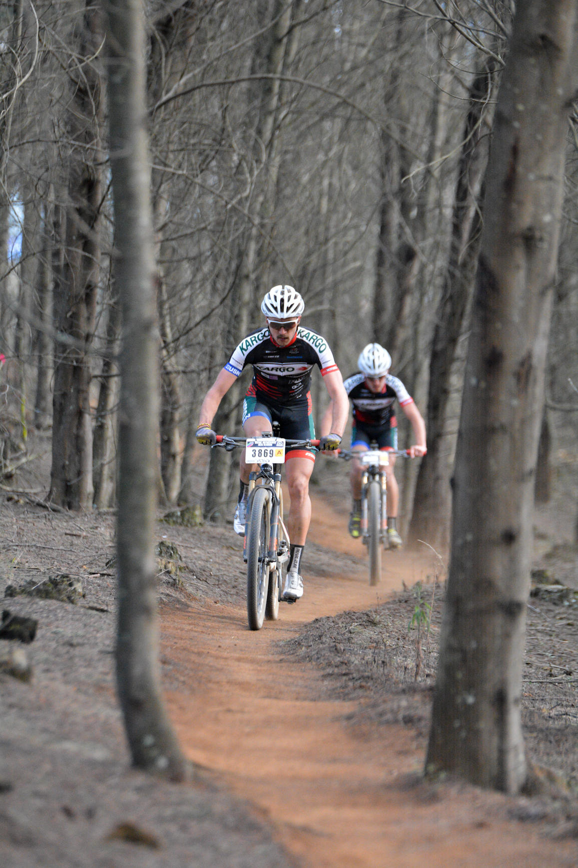 The entries of Kargo Pro MTB Team's Brendon Davids (front) and Alan Hatherly (back) has added a new dimension to the race for the overall spoils at Sunday's Sappi Scottburgh MTB Race.