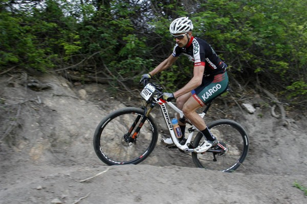 Kargo Pro MTB Team's Brendon Davids claimed his second race win of the 2015 Quattro ROAG Series when he stormed to victory in the 2015 aQuellé Tour de Krantz on Sunday. Finishline Photos/ Gameplan Media