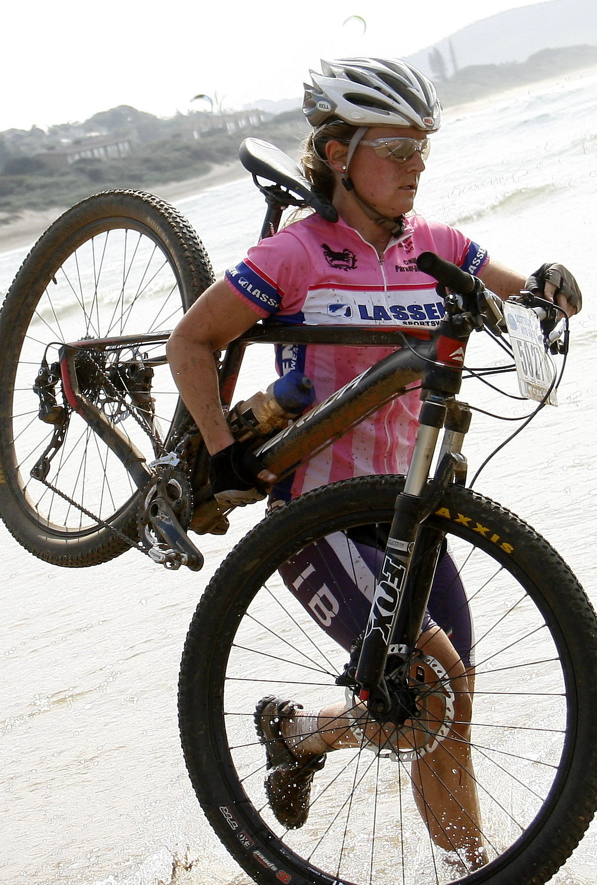 Local lady Candice Parker-Dennison claimed her first victory in the 45km Sappi Scottburgh Classic, the feature race of the 2015 Sappi Scottburgh MTB Race, on Sunday. Finish Line Photos/ Gameplan Media