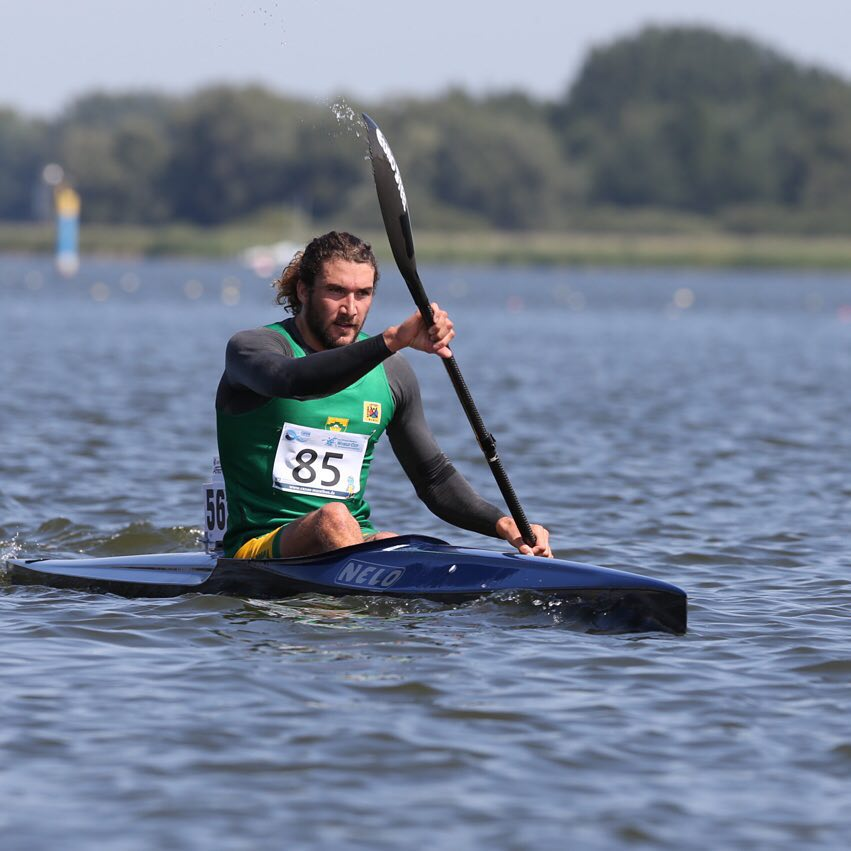 Andy Birkett grabbed a silver medal at the season--opening ICF Marathon World Cup in Brandenburg in Germany. Ollie Harding/ Gameplan Media