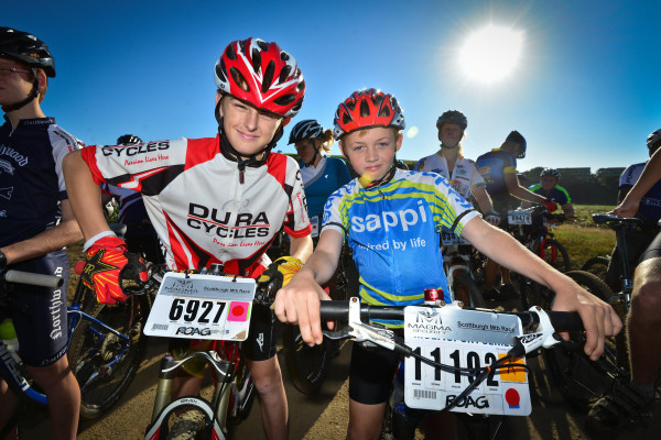 Young and old alike are all set for another great day in the saddle at Sunday's Sappi Scottburgh MTB Race. Darren Goddard/ Gameplan Media